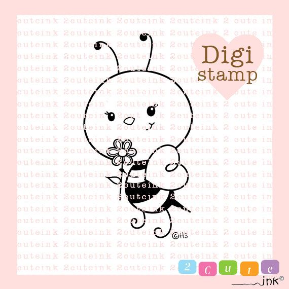 Sweet Honey Bee Digital Stamp for Card Making, Paper Crafts, Scrapbooking, Hand Embroidery, Invitations, Stickers, Coloring Pages by 2CuteInk on Etsy https://www.etsy.com/uk/listing/187775337/sweet-honey-bee-digital-stamp-for-card