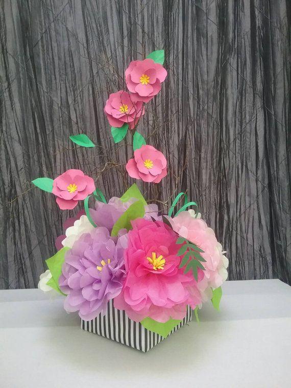 Paper Flower Centerpiece Ideas : Best ideas about paper flower centerpieces on
