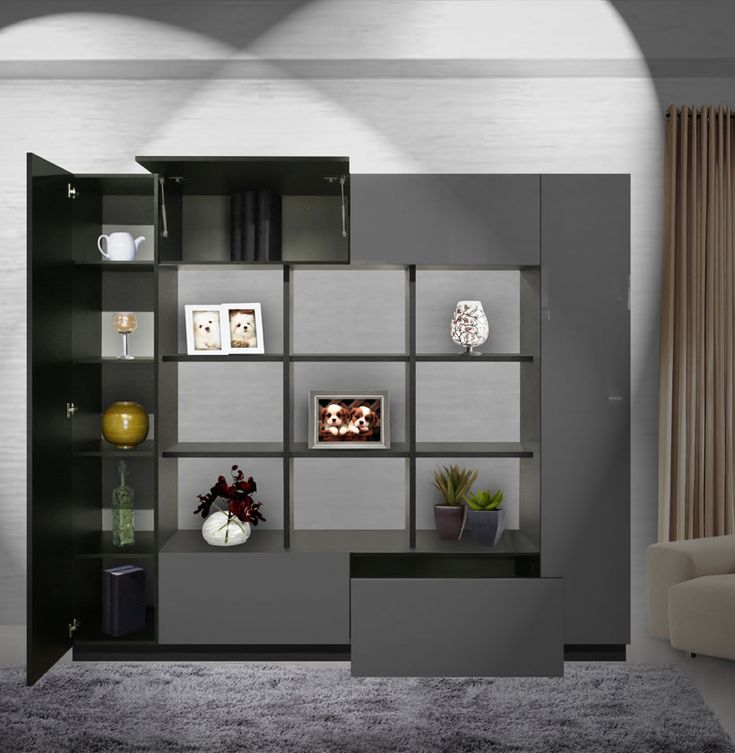 Harrison Bookcase - Modern Cube Bookshelves Surrounded by Storage | Contempo Space