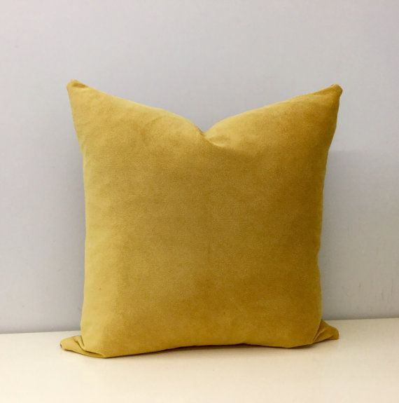 This Luxury hand made designer pillow cover in mustard yellow.  Its made from high quality upholstery mustard velvet fabric.  Front and back is the