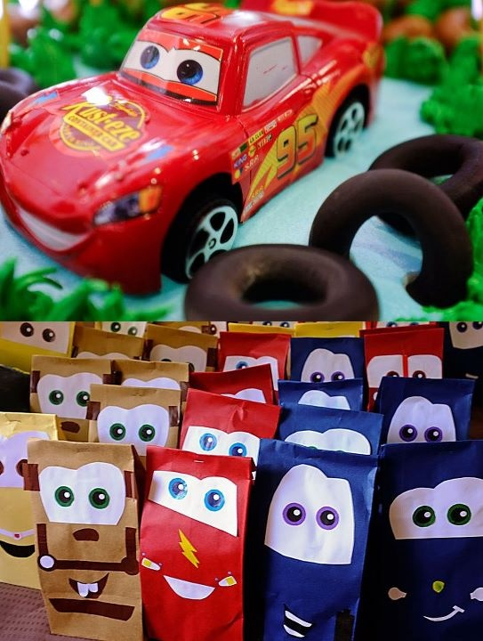 cars loot bags i made for my sons bday ;) Cars birthday