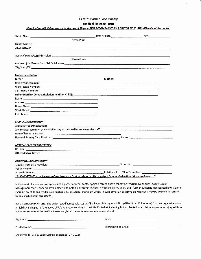 Child Medical Consent Form Template Awesome Medical Release Form For Minors Medical Consent Form Free Printable Consent Forms Thank You Letter After Interview