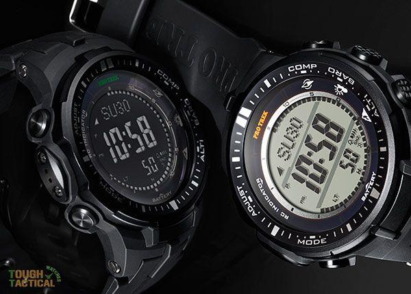 Protrek-PRW-3000-series  (Full Black : Casio Protrek Triple Sensor Atomic PRW-3000-1A )