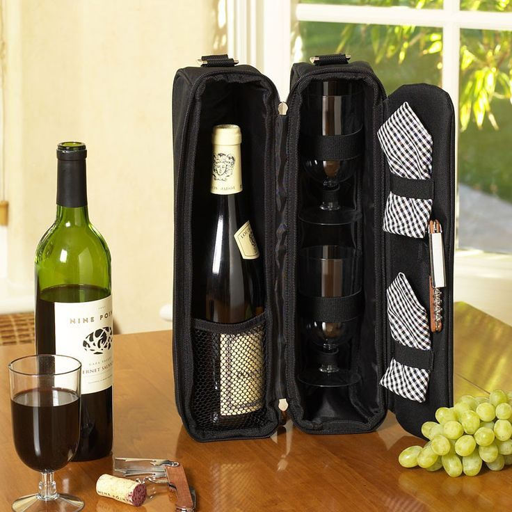 Classic Sunset Deluxe Wine Carrier: