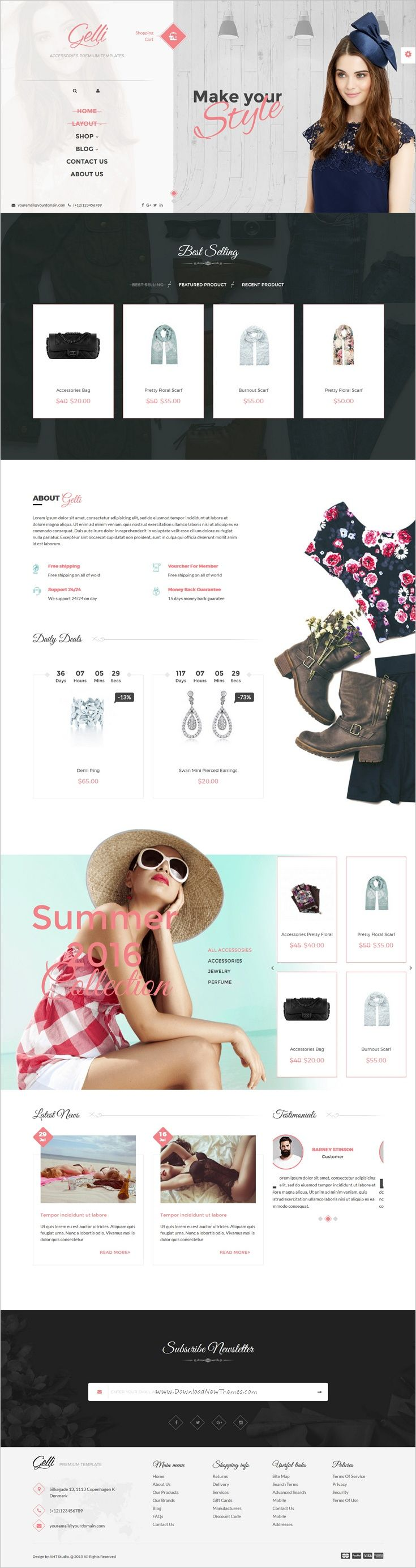 Gelli is a stylish modern and elegant design #WordPress theme for #webdev amazing #fashion shop eCommerce website with 7+ multipurpose homepage layouts download now➩  https://themeforest.net/item/gelli-woocommerce-theme-for-jewelry-perfume-accessories-handmade-store/18023071?ref=Datasata