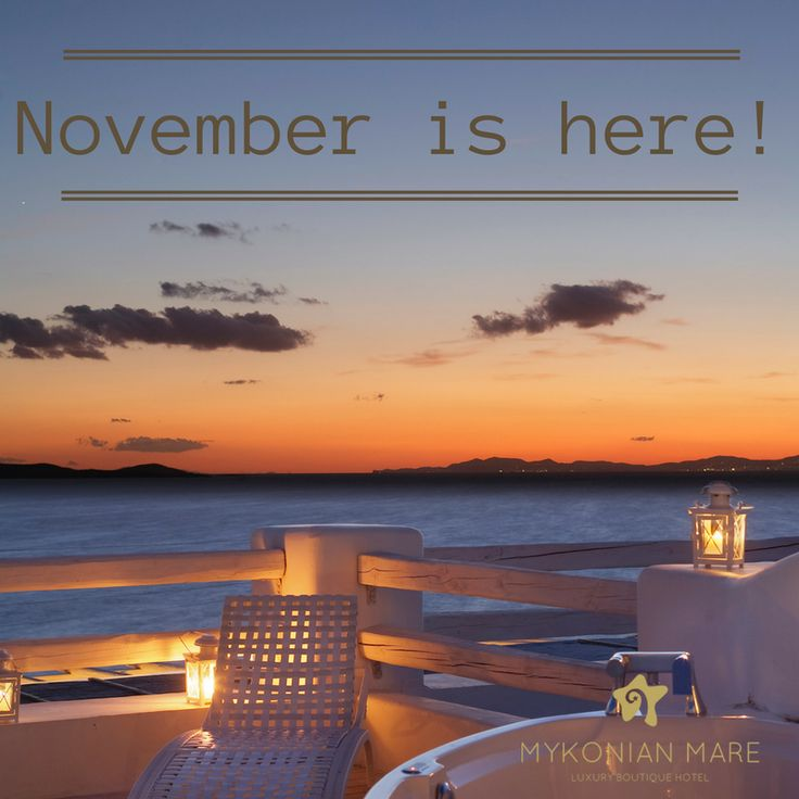 November is here dear travelers! Recollect your summer holidays and start dreaming of your new escapes. #Mykonos #MykonianMare #MykonianDays #Travel #Holidays