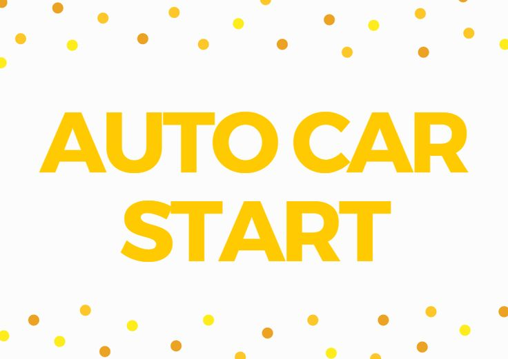 Automatic Car Starter