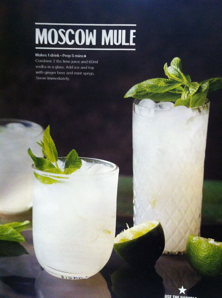 Moscow Mule- add lime wedges, sub whiskey or gin, play with proportions. I <3 ginger beer.