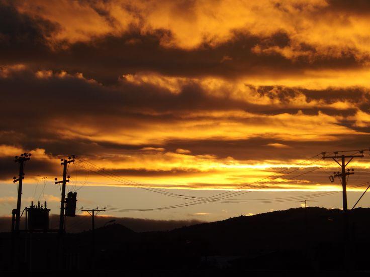 Atardecer en Santa Cruz, Chile.