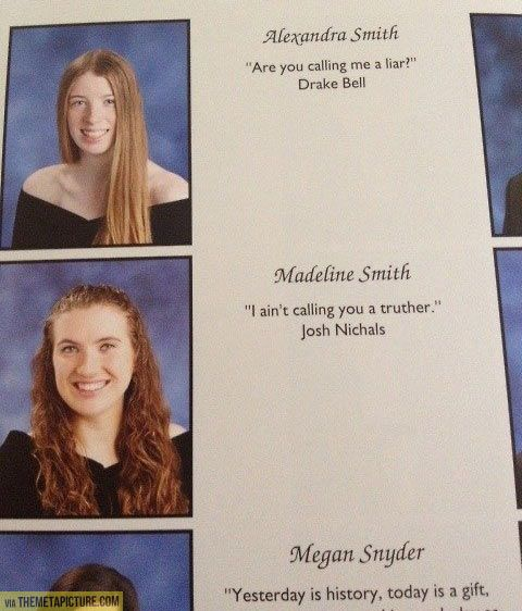 Yearbook quote win…