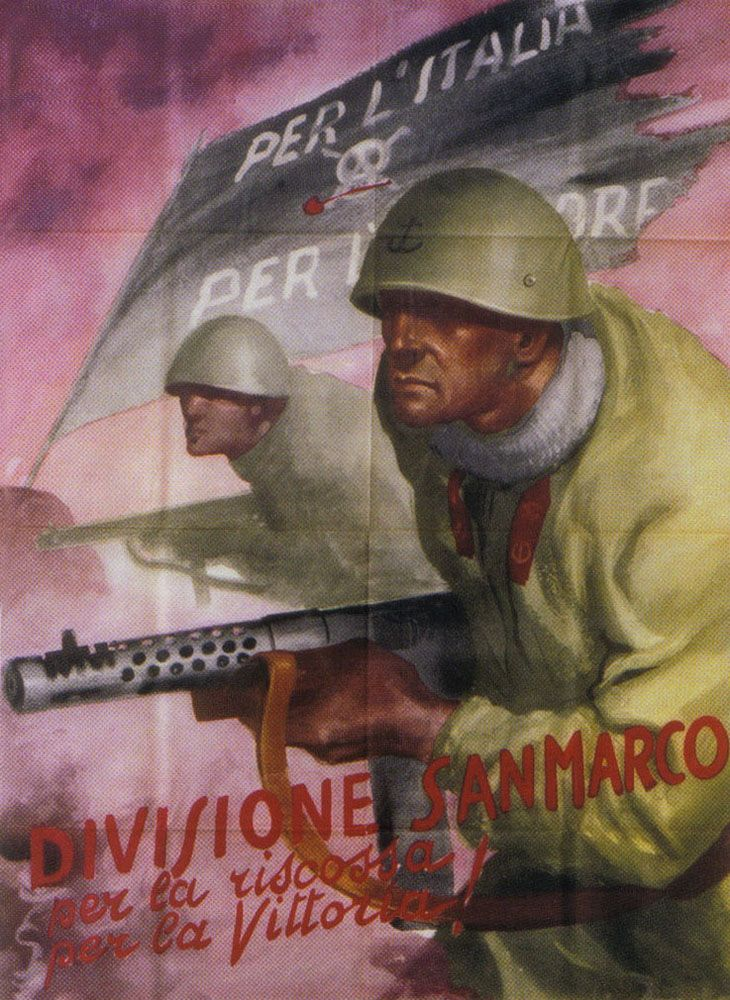 Very nice Poster from the Italian San Marco Division - Italian Marines.