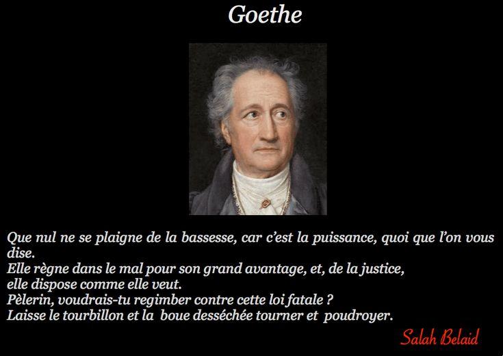La Pensée Du Jour: La bassesse (Goethe)