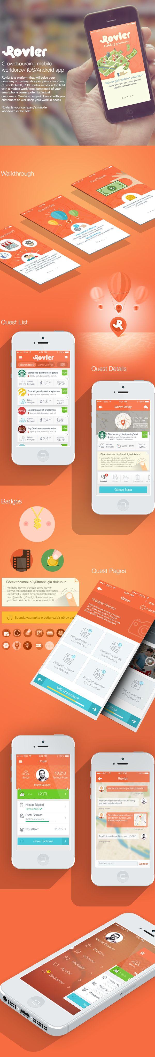 Unique App Design, Rovler #App #Design