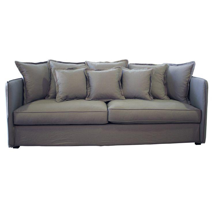 Large Serano Grey Loose Cover Sofa