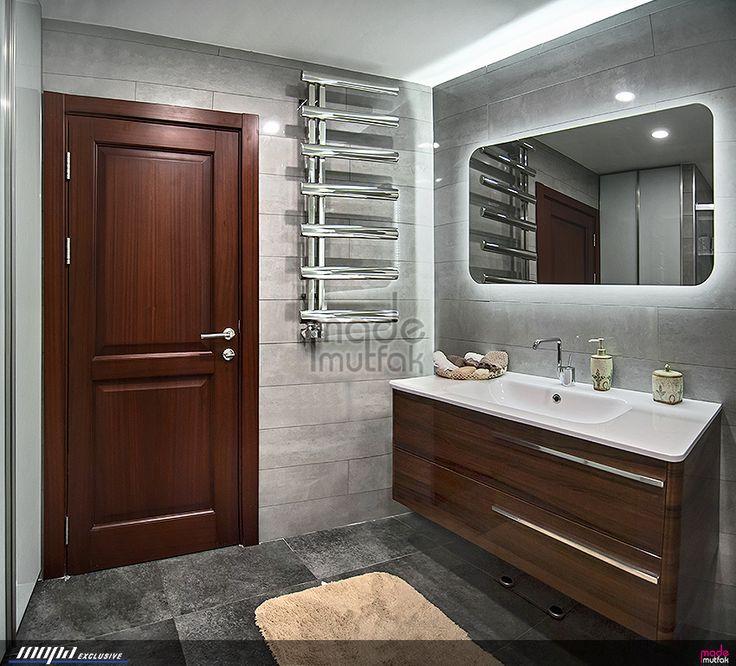 Tasarım ve uygulamasını yaptığımız bir banyo. Tüm Banyo/WC modelleri için lütfen sayfamızı ziyaret ediniz. #banyo #bathroom