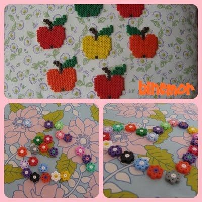 Apples from mini hama beads
