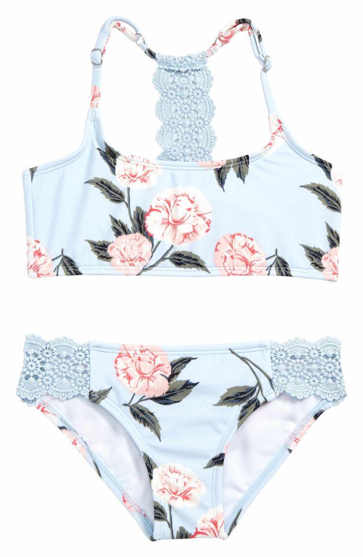 Main Image - Billabong Petal Daze 2-Piece Swimsuit (Little Girls & Big Girls)