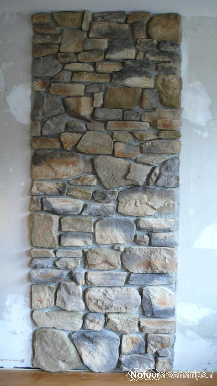 Geopietra steenstrips achterwand houtkachel, kleur 01 ...