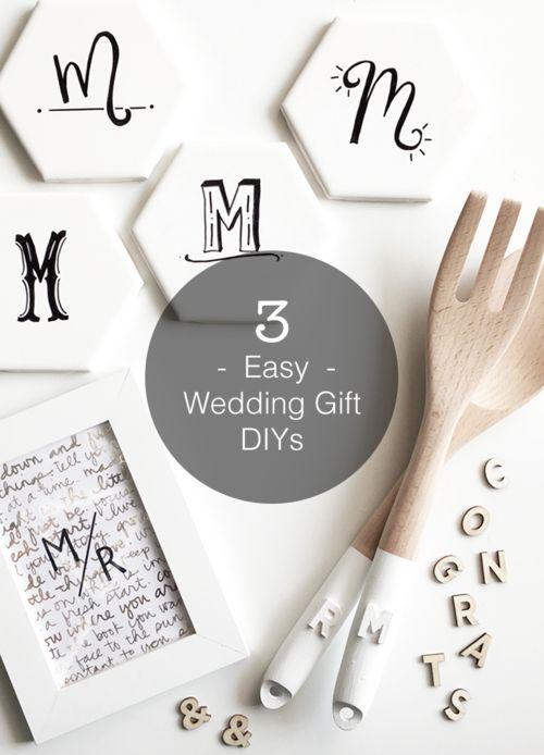 3 Easy And Inexpensive Wedding Gift DIYs From DrawntoDIY