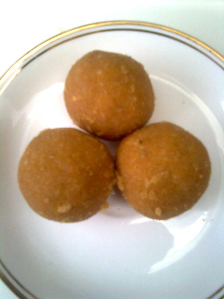 Celebrate With Indian Festival Sweets : Gram Flour and Semolina Balls or Suji-Besan Laddoo