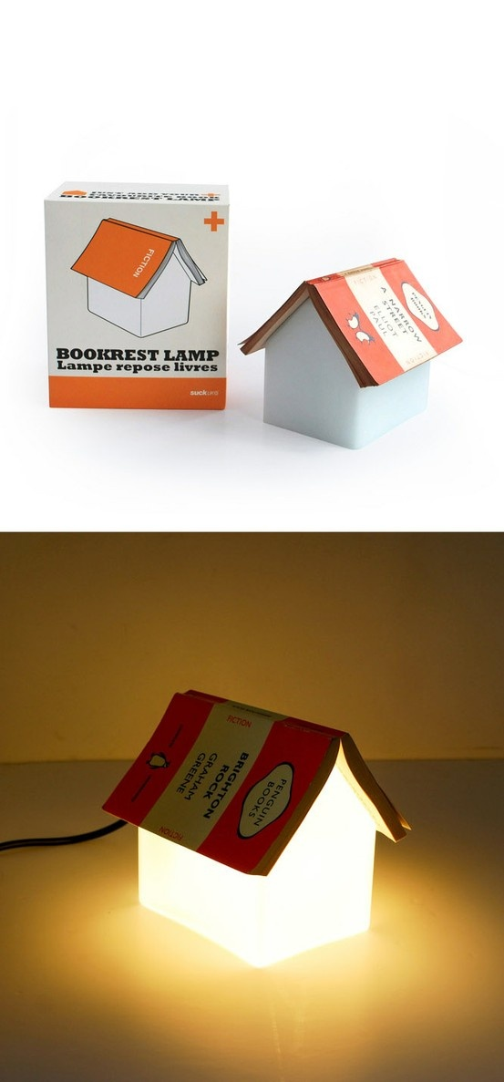 Bookrest Lamp transforms into a house when you set down your book./ / TechNews24h.com