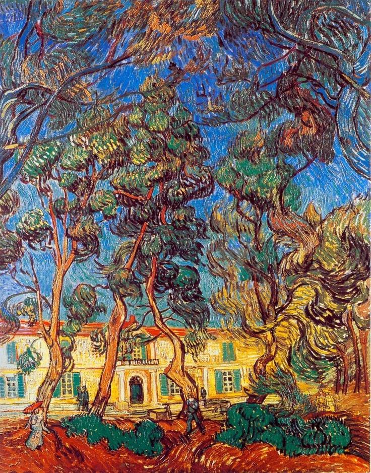 Vincent van Gogh - Trees in the Garden of Saint Paul Hospital, October 1889, Saint-Rémy-de-Provence, France, oil on canvas, The Armand Hammer  Museum of Art, Los Angeles, California