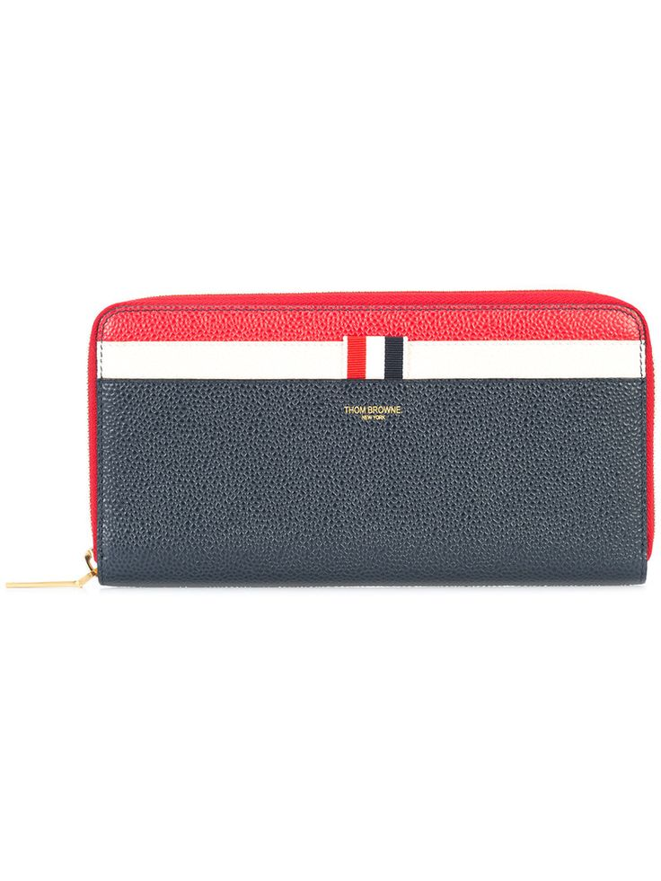 THOM BROWNE THOM BROWNE - STRIPED CONTINENTAL WALLET . #thombrowne #