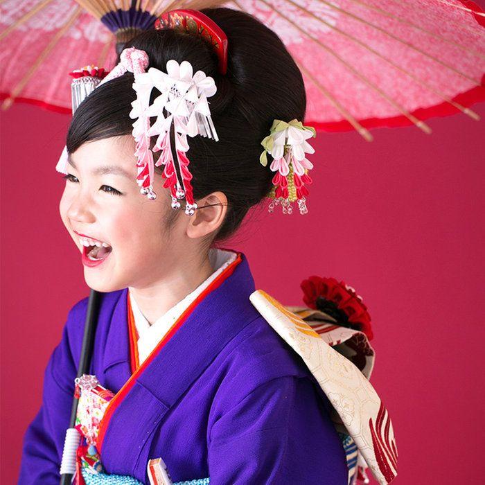 ★あす楽★【七五三2015】藤娘かんざし【三歳・七歳】七五三髪飾り七歳かんざし日本髪つまみ細工セット