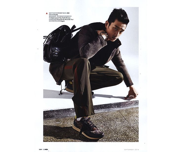 #HOGANREBEL R218 sneakers presented by ELLE MEN China, to complete a metropolitan and stylish outfit.