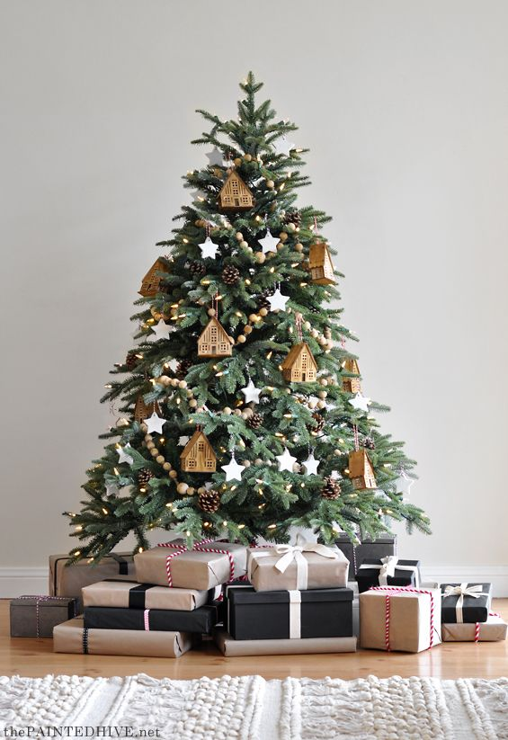 Natural And Neutral Christmas Tree Decorating Ideas Cool Christmas Trees Christmas Tree Inspiration Natural Christmas Decor