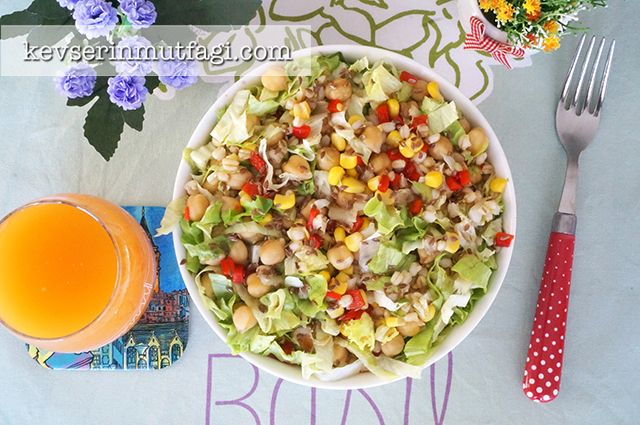 Chickpea Lettuce Salad Recipe