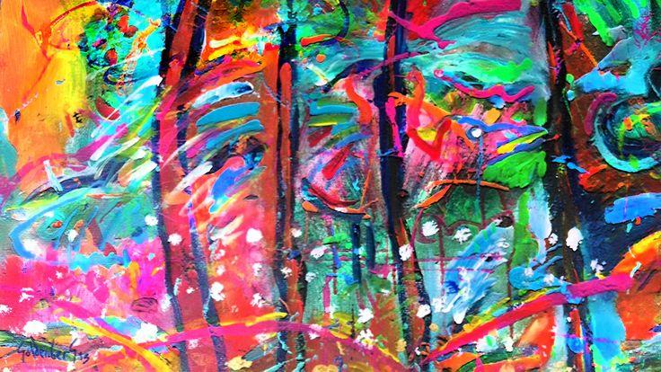 Acrílico y Mixta sobre tela 130 x 90 cm 5800 US$