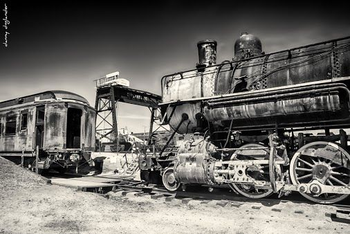 Old Locomotive and Pullman car at the Pacific Southwest Railway Museum in Campo, California.  #railroadphotography   #history #historic #sepia #vintage