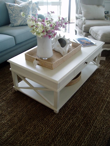 Coffee Table Hand Painted White French Furniture Hamptons Gold Coast Australia Tv Room X