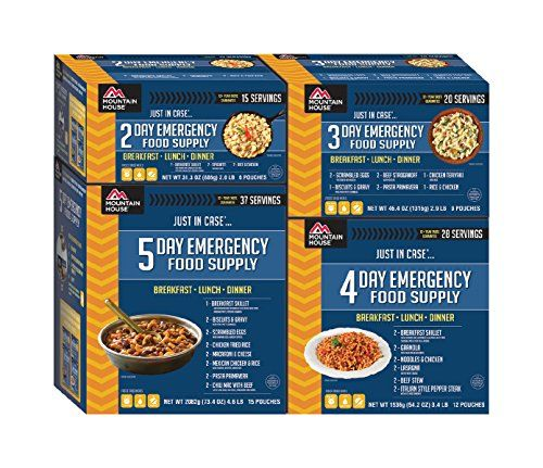 I just saw this and had to have it Mountain House 14 Day Emergency Food Supply you can {read more about it here http://bridgerguide.com/mountain-house-14-day-emergency-food-supply/