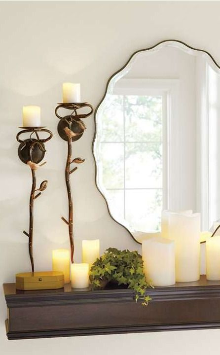 The nature-inspired beauty of our Bird Candle Sconces rivals the flickering flame they contain.