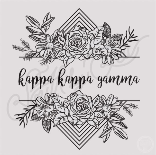 Kappa Kappa Gamma | KKG | Floral T-shirt Design | Sisterhood | Bid Day | Recruitment | Tribal | Geometric | South by Sea | Greek Tee Shirts | Greek Tank Tops | Custom Apparel Design | Custom Greek Apparel | Sorority Tee Shirts | Sorority Tanks | Sorority Shirt Designs