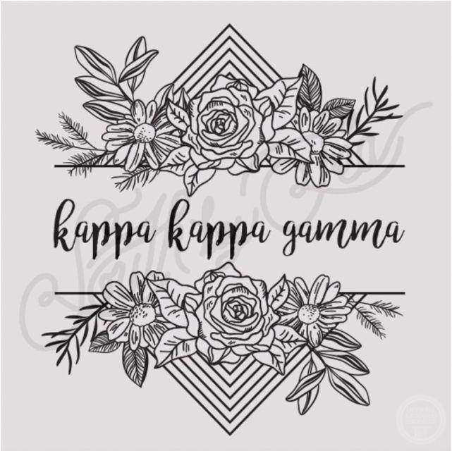 Kappa Kappa Gamma | KKG | Floral T-shirt Design | Sisterhood | Bid Day | Recruitment | Tribal | Geometric | South by Sea | Greek Tee Shirts | Greek Tank Tops | Custom Apparel Design | Custom Greek Apparel | Sorority Tee Shirts | Sorority Tanks | Sorority Shirt Designs