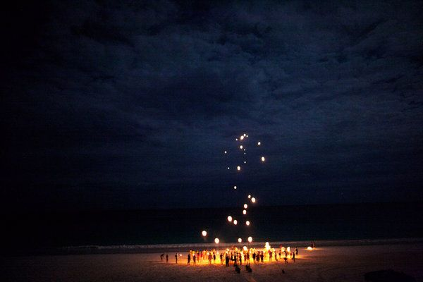 photo via sky lanterns destination wedding and wedding