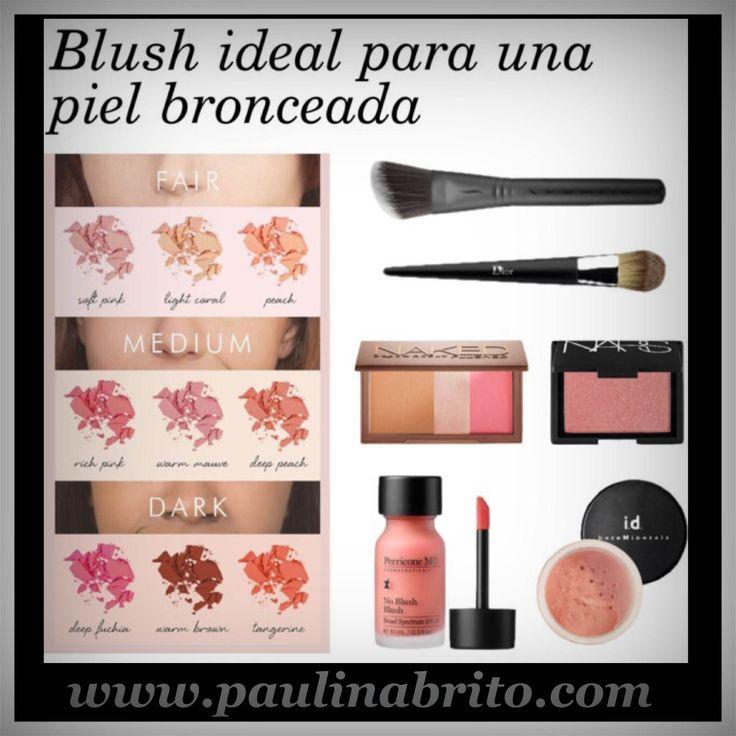 Blush ideal para una piel bronceada