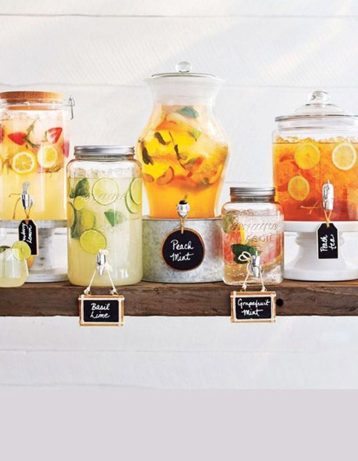 We recommend that every wedding should have a drink station no matter the season – but for those hot summer wedding days, they're pretty much mandatory!