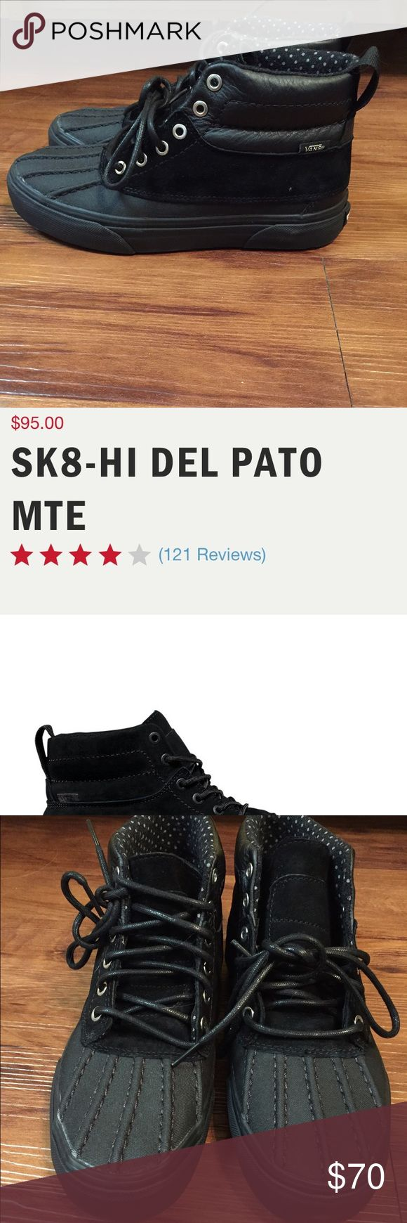Vans SK8-HI del Pato mte weatherproof shoes OUT OF STOCK ON VANS WEBSITE, NWOT. I've decided I have too many shoes, but my loss is your gain, these are one of a kind and super great! Vans Shoes Sneakers