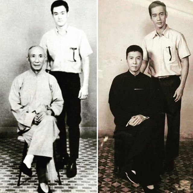 Then And Now Ip Man W Bruce Lee And Donnie Yen W Danny Chan Bruce Lee Pictures Bruce Lee Photos Bruce Lee