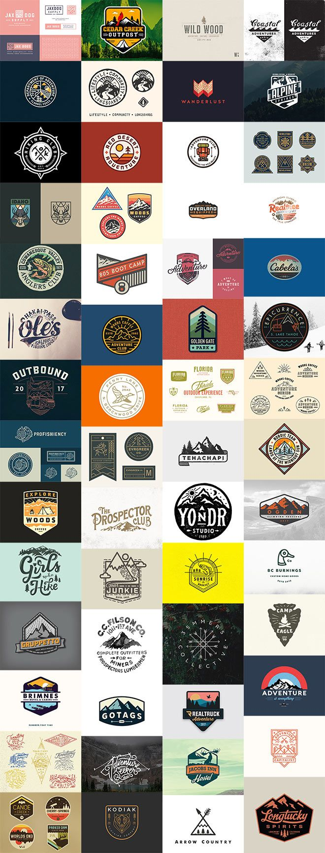 Designs that are based on the theme of the great outdoors are a popular sub-category of the vintage design trend. They're influenced by classic design material associated with outdoor activities, such as the logos for national parks or the different styles of scout badges and souvenir patches. In today's inspiration showcase I present 60 creative …