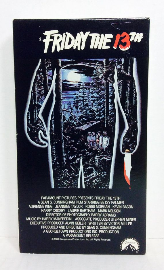 Friday The 13th vintage horror vhs by HAPPYHAPPYTOYSTOYS on Etsy