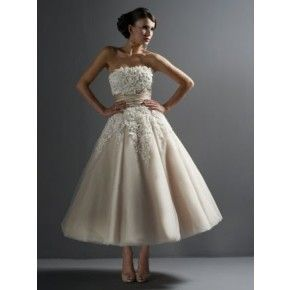 Size 6-20 Ball Gown Strapless Ankle Length Satin & Tulle Bridal Wedding Dress