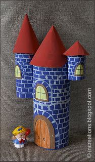 Simple Castle - paint, scissors, glue, cardboard, and imagination