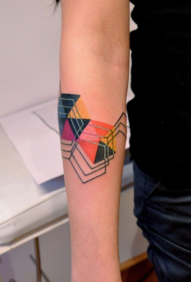 Color Geometric Tattoo