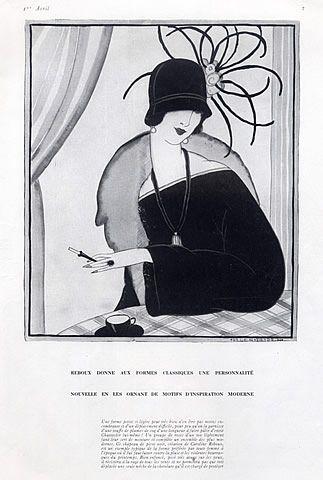 Caroline Reboux (Millinery) 1922 Helen Dryden,