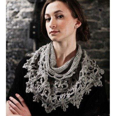 Berroco Loken cowl crocheted in Berroco Flicker yarn, a great way to add a little sparkle to your wardrobe. #crochet #freepatern